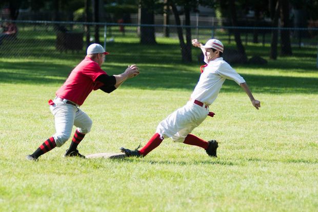 Jimmy playing second base